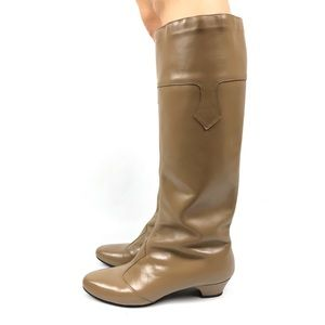 1960's mod tall tan leather boots by JOHANSEN